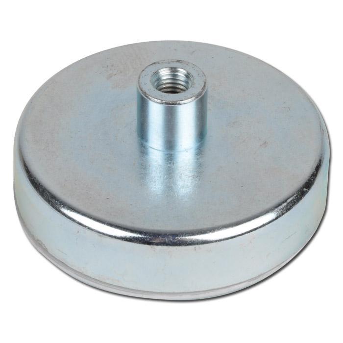 Flachgreifmagnet - mit Gewindebuchse - Haftkraft bis 1300 N - aus Ferrit