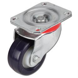 Apparathjul TORWEGGE - länkhjul - elastisk PU - kullager