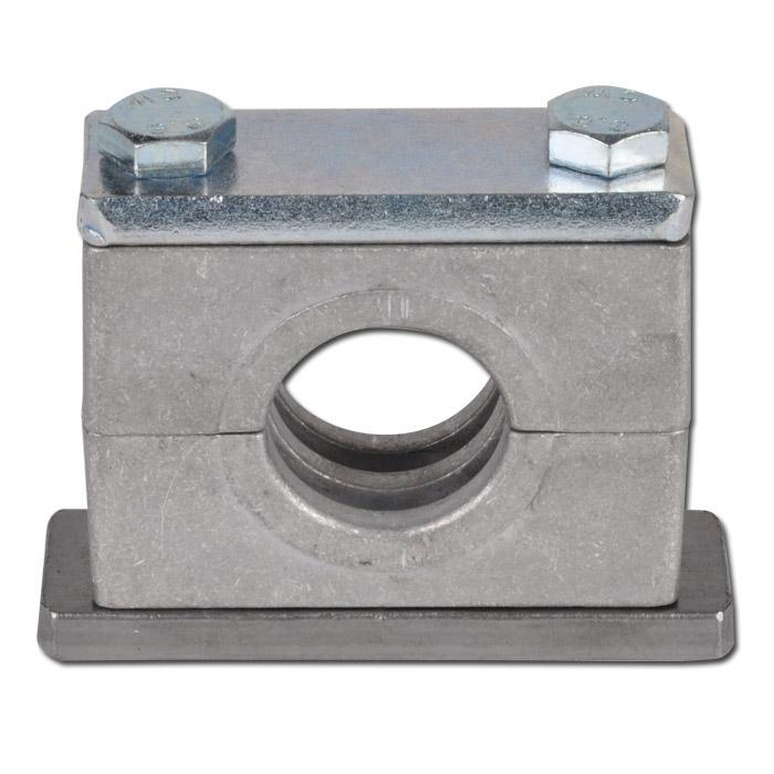 Rohrschelle - schwere Baureihe 1 bis 4 - mit Anschweiß- und Deckplatte - Rohr-Ø 6 bis 60,3 mm - Preis per Stück