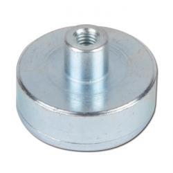 Flat pot magnet - made of samarium cobalt - strength up to 220 N