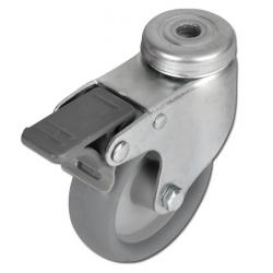 Apparate-Lenkrolle - Thermoplastrad - Rad-Ø 50 bis 100 mm - Bauhöhe 71 bis 122 mm - Tragkraft 40 bis 65 kg