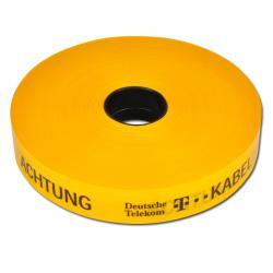 Restposten - Trassenwarnband - mit Sollbruchstellen - Länge 250 m - Breite 150 mm - Farbe gelb