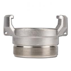Guillemin-coupling with outer thread and locking - stainless steel