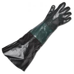 Blästerhandskar - plast - fodrade - längd 400-600 mm