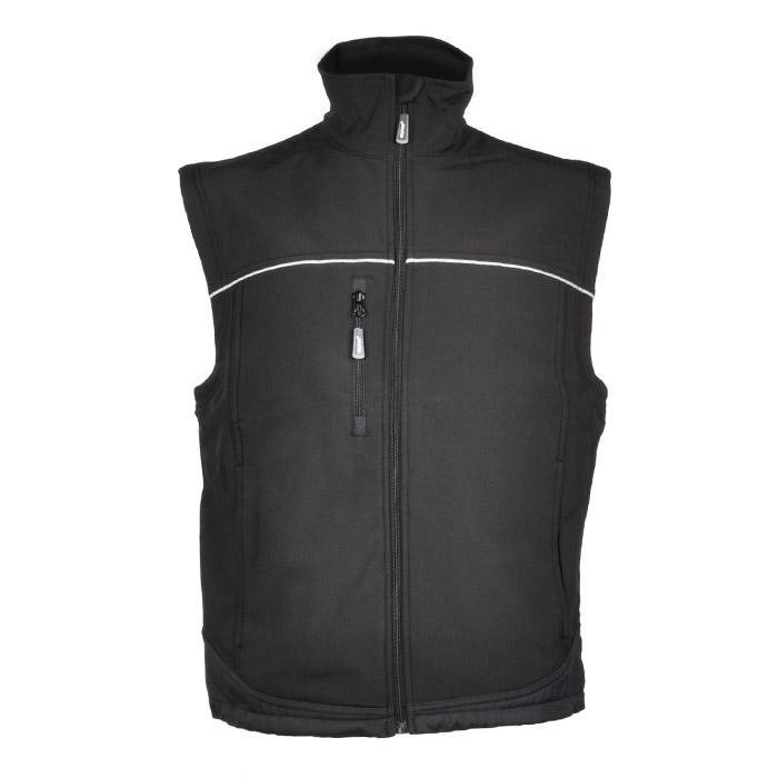 """Väst """"Hen"""" - softshell - 100% polyester - svart"""