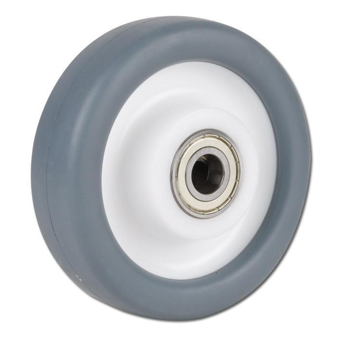 Thermoplastrad für Apparaterollen - mit 2 Kugellagern - Rad-Ø 80 bis 250 mm - Tragkraft 120 bis 450 kg