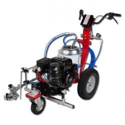 """Straßenmarkierungsgerät """"Excalibur Liner"""" - Behälter Kunststoff 20l - Benzinmotor 7 PS - max. Druck 210 bar - Maße 1400 x 1600 x 1050 mm"""