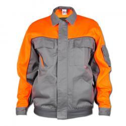 Arbetsjacka - stl. 70 - 35/65% blandväv, ca. 285 g/m² - zink/orange
