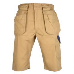 """Restposten - Arbeits-Shorts - Gr. 48 - beige/marine - 35/65 % MG - 320 g/m² - """"VERMONT"""" - TEFLON®-Beschichtung"""