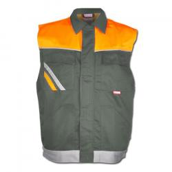 Arbetsväst - stl. XS - blandväv, 285 g/m² - EN 26330 - zink/orange