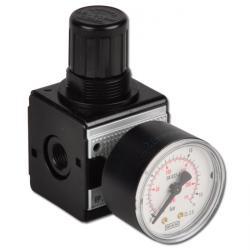 """Régulateur de pression de précision - de 0,1 à 16 bar - raccord G 1/4"""" - fonte de zinc  - gamme 1 - débit de 1500l/min"""