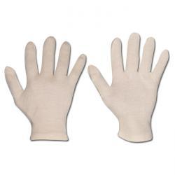 """Handskar """"Passat"""" - bomullstrikå - extra kraftiga - vit"""