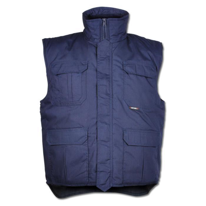 "Vinterväst ""UNDELOH"" - 65% polyester/35% bomull - marinblå"