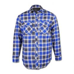"Thermal Shirt ""ONTARIO"" - 100% Cotton - Blue-Checked"