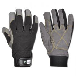 "Winter Glove ""RIGGER"" - Artificial Leather - Balck/Grey Color"