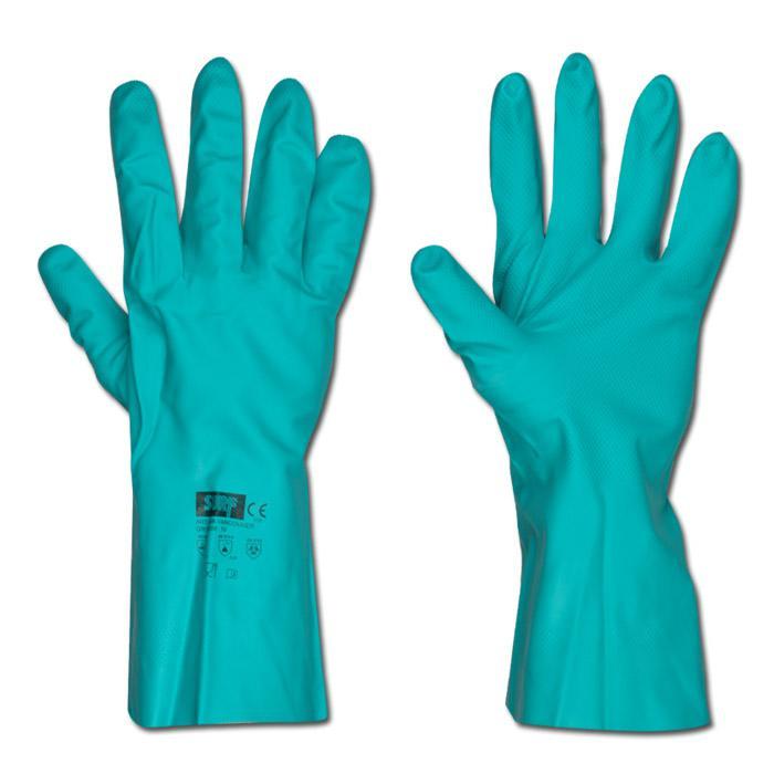 Arbetshandskar - nitril - grön - EN 388/klass 4101 och EN 374/2/3