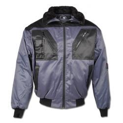 """Pilotjacke """"Tromsoe"""" - 60% Baumwolle/ 40% Polyester - grau/ schwarz"""