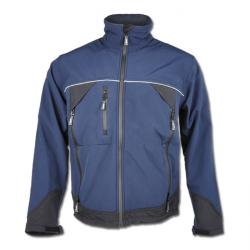 "Soft shell jacket ""GAMMA"" - 100% polyester - blue/black"