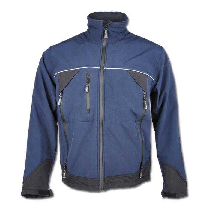 """Softshelljacka """"GAMMA"""" - 100% polyester - blå/svart"""
