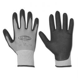 """Handschuh - """"ATLANTA"""" 65/35% Nylon/Spandex EN 388 - schwarz/grau"""