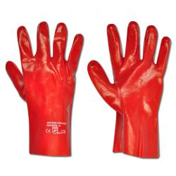 "Work Gloves ""CHICAGO"" -  PVC With Tricot-Cotton Lining - Auburn - Norm EN 388/ C"