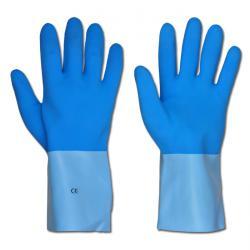 """Arbeitshandschuh """"Moratuwa"""" - Latex - Farbe hellblau - Norm EN 388/Klasse 4131/EN 374/2+3"""