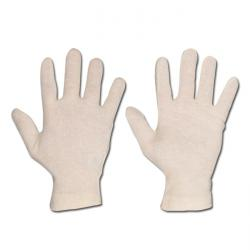 "Handskar ""Jilin"" - bomullstrikå - beige"