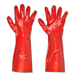 "Work Gloves ""Columbia"" - PVC With Cotton Lining - Auburn - Norm EN 388/ Class 41"