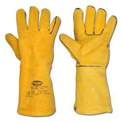 "Welding Glove ""S53 F""- Split Leather Gloves - Brown Color - Norm  EN 388/Class 2"