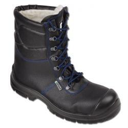 Vinterkängor - läderskaft - EN ISO 20345 S3 - svart/blå