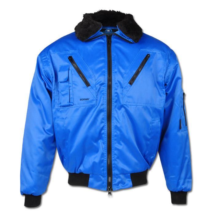 """Pilot Jacket """"Trondheim"""" - Polyester/Cotton - Royal Color"""