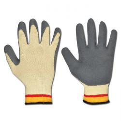 Handskar - KEVLAR® - latexbeläggning - EN 388 - storlek 8
