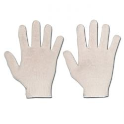 "Work Gloves ""MUTAN"" - Medium Knitted Cotton - Off-White Color - Norm EN 388 / Cl"