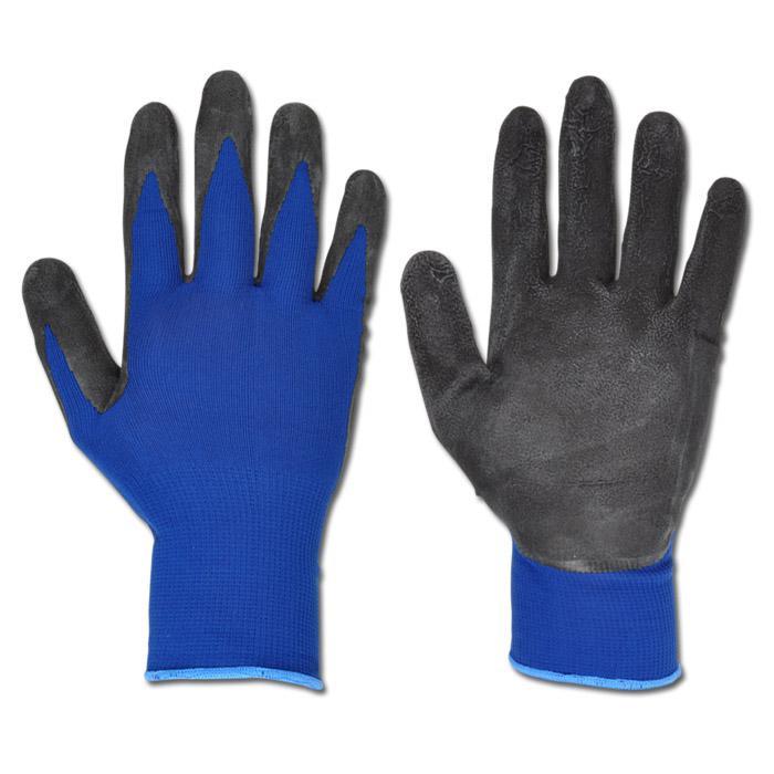 """Arbeitshandschuh """"LAFOGRIP"""" - Terylene - Farbe schwarz/blau - EN 388 / Klasse 3131"""