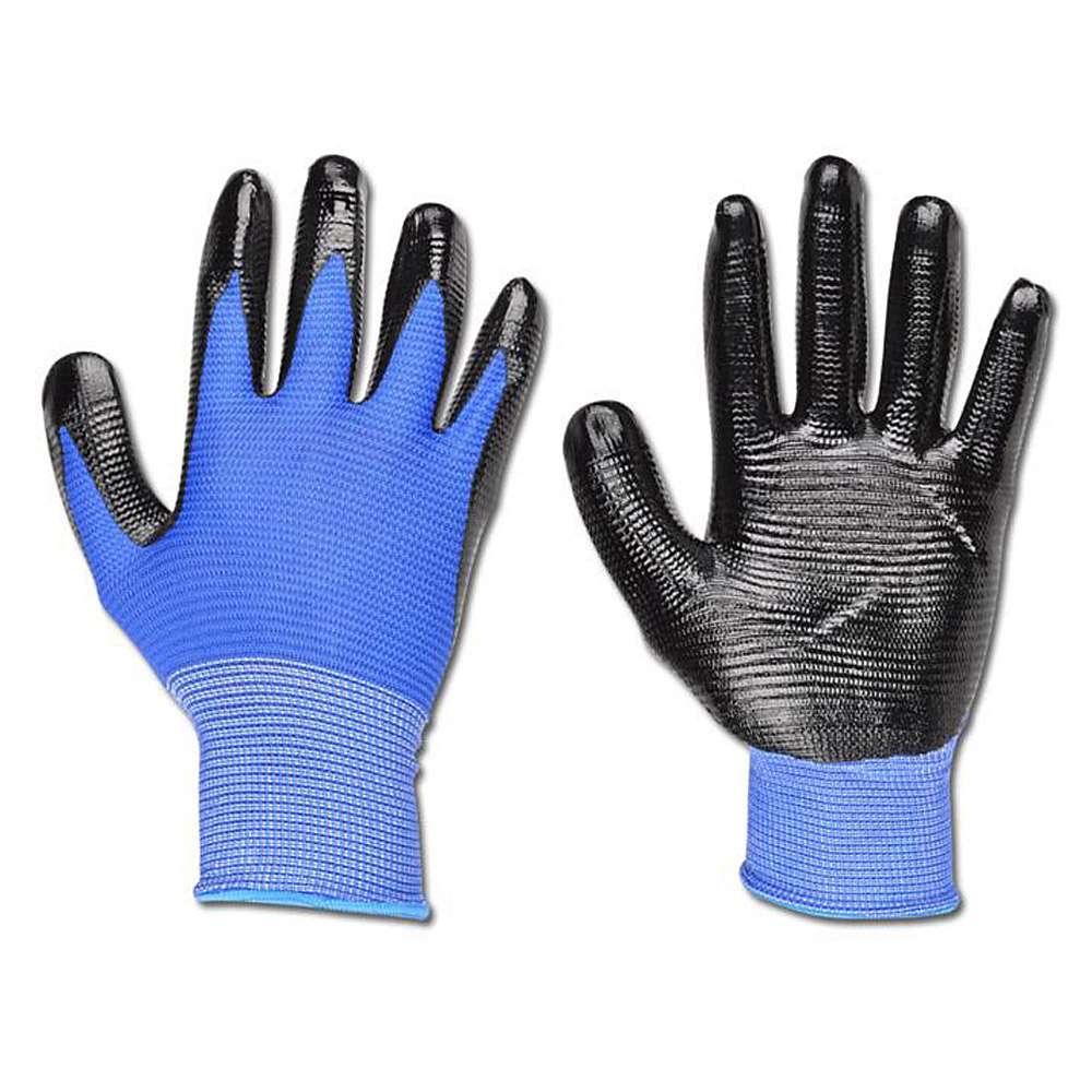 "Arbeitshandschuh ""PROFILGRIP"" - Nylon - Farbe blau/schwarz - EN 388 / Klasse 4131"