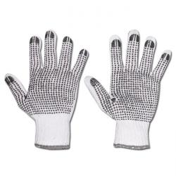 "Work Gloves ""TANTUNG"" - Coarse Knitted Blended Fabric With PVC-Pimples - White"