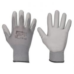 Arbetshandskar - polyester - grå - EN 388/klass 4131