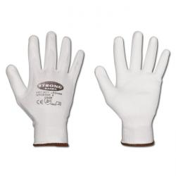 "Work Gloves "" Leshan"" - Fine Knitted Dyneema With PU-Coating - White Color - Nor"