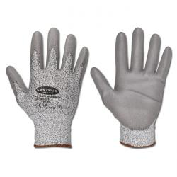 "Guanto in maglia ""Wenzhou"" - Ammenda Knit Dyneema - grigio - con PU parte del rivestimento - norma EN 388 Cat.2 CE - Forte mano"