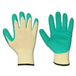 """Arbeitshandschuh """"Specialgrip"""" - BW- Strick, Latex beschichtet - Farbe grün - Norm EN 388/ Klasse 2142"""