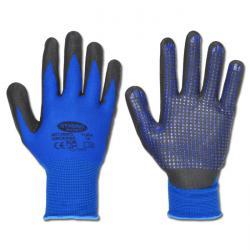 Handskar - stl. 6 - 67%/33% akryl/nylon - nitrilbeläggning