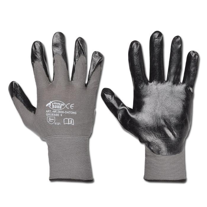 Arbetshandskar i finstickad polyamid - vätskeavvisande - grå