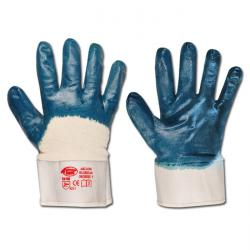 "Work Gloves ""Bluestar""- Nitrile - Blue Color  - Norm EN 388/Class 4211"