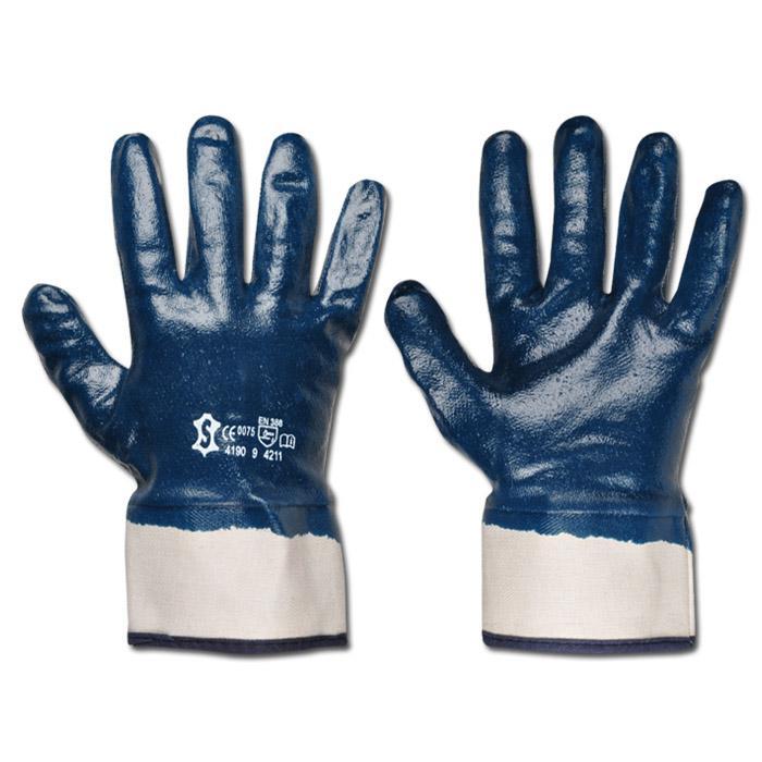 """Arbeitshandschuh """"Fullstar"""" - Nitril - Farbe blau - Norm EN 388/ Klasse 4211"""