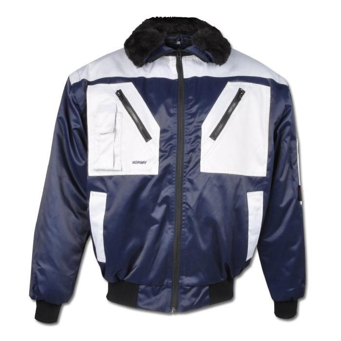 "Pilot Jacket ""Bodom"" - Norway Tex Protctor Coating - Blue/Silver"