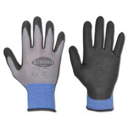 "Handschuhe - ""Austin"" 65/35% Nylon/Spandex EN 388 - grau/schwarz"