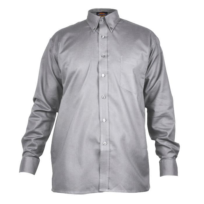 "Skjorta ""Oxford"" - herr - Dickies - långärmad - silvergrå"