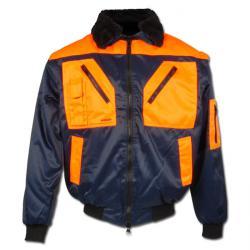 "Pilot Jacket ""HALDEN"" - 60% BW/40% PE - Marine/ Orange"