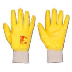 """Arbeitshandschuh """"Amarillo - Nitril - Farbe gelb - Norm EN 388/Klasse 4111"""