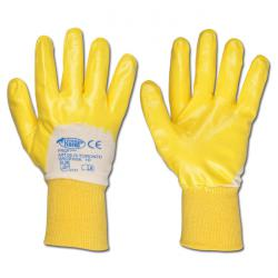 "Work Gloves ""Toronto"" - Nitrile - Yellow - Norm EN 388/ Class 4111"